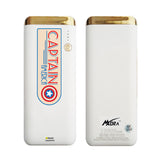 MORA x Hamee Designer Marvel Licensed 13000 mAh BIS Certified Colour Changing LED Light Torch Power Bank (Captain America / Badge)