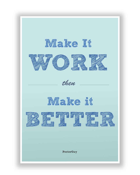Buy Motivational Posters Online | Make it Work Quote Poster for Motivation | PosterGuy.in