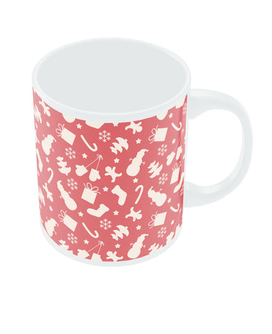 Merry Christmas Decoration Pattern Red Mug
