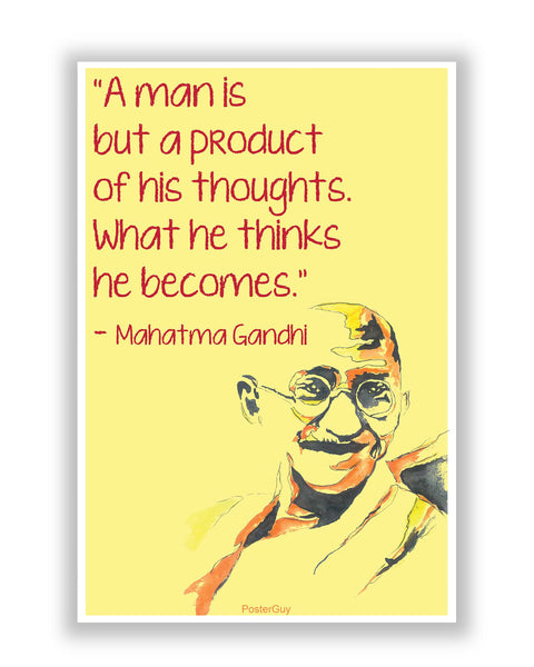 Buy Motivational Posters Online | Mahatma Gandhi Thoughts Inspirational Motivational Quote Poster | PosterGuy.in