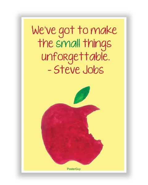 Buy Motivational Posters Online | Steve Jobs Small Things Motivational Quote poster | PosterGuy.in