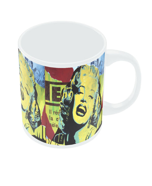PosterGuy Marilyn Monroe Colourful Designer White Ceramic Coffee Mug