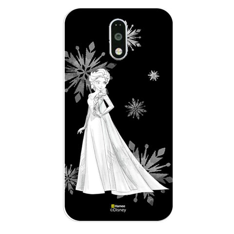 Disney Princess Frozen (Elsa / Black White) Moto G4 Plus