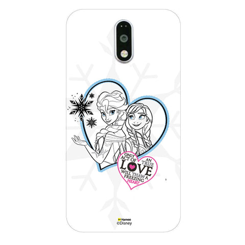 Disney Princess Frozen (Elsa Anna / Hearts) Moto G4 Plus