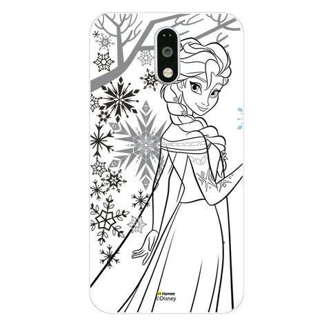 Disney Princess Frozen (Elsa / Outline) Moto G4 Plus