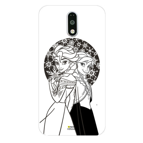 Disney Princess Frozen (Elsa Anna / Black White) Moto G4 Plus