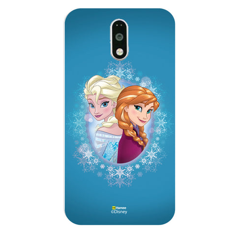 Disney Princess Frozen (Anna Elsa / Blue) Moto G4 Plus