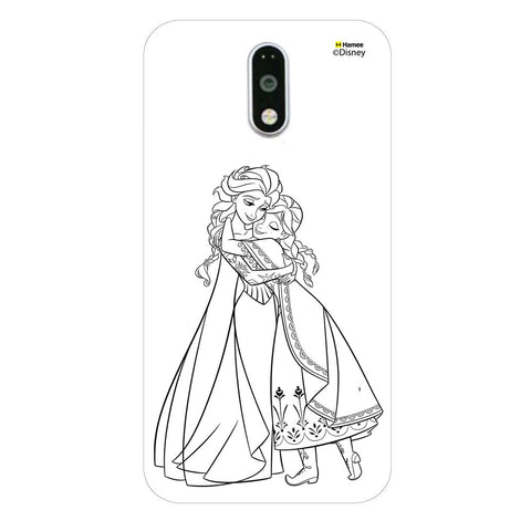 Disney Princess Frozen (Anna Elsa / Outline) Moto G4 Plus