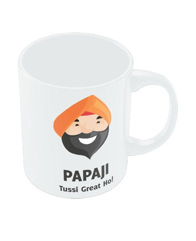 PosterGuy Gift for Dad Happy Fathers Day Birthday Anniversary Funny ( Punjabi Papaji) White Coffee Mug