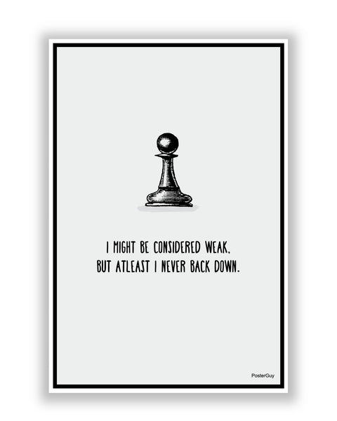 Buy Motivational Posters Online | Never Back Down Chess Motivational Poster | PosterGuy.in