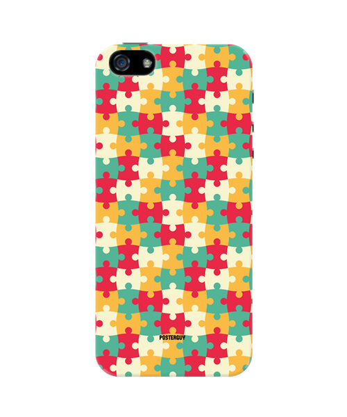 Colourful Jigsaw Pattern iPhone 5/5S Case