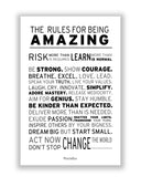 Buy Motivational Posters Online | The Rules For Being Amazing Poster | PosterGuy.in