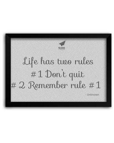 Framed Poster | NASSCOM 10000 Startups 'Rules of Life' Motivational Quote Matte Laminated Framed Poster PosterGuy.in