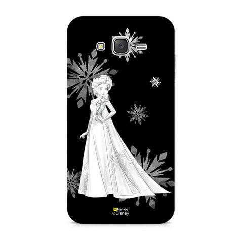 Disney Princess Frozen (Elsa / Black White) Samsung Galaxy J5