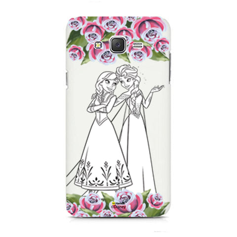 Disney Princess Frozen (Elsa Anna / Roses) Samsung Galaxy On7
