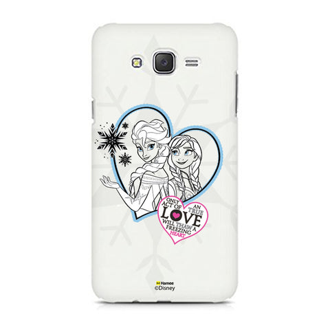 Disney Princess Frozen (Elsa Anna / Hearts) Samsung Galaxy J5
