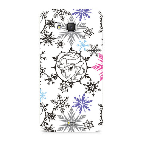 Disney Princess Frozen (Elsa / Colourful Flakes) Samsung Galaxy J5