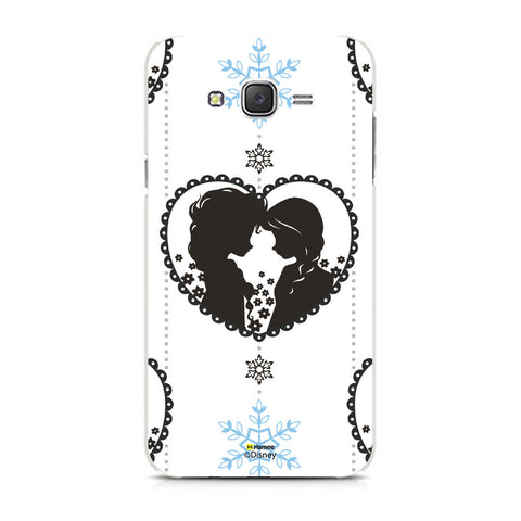 Disney Princess Frozen (Anna Elsa / Hanging Heart) Samsung Galaxy J7