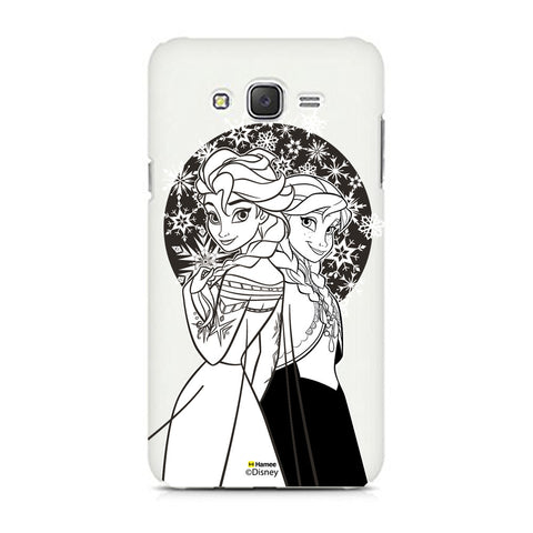 Disney Princess Frozen (Elsa Anna / Black White) Samsung Galaxy J5