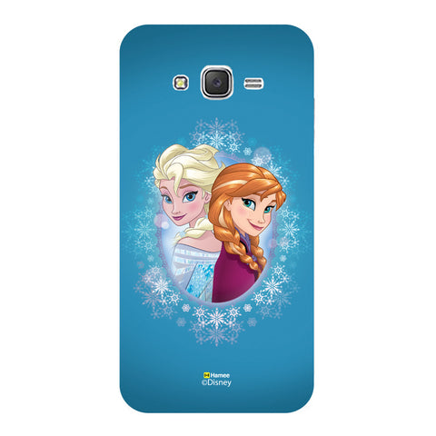 Disney Princess Frozen (Anna Elsa / Blue) Samsung Galaxy J5