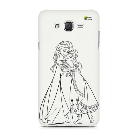 Disney Princess Frozen (Anna Elsa / Outline) Samsung Galaxy J5