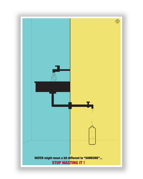 Buy Art Posters Online | Save Water Poster | PosterGuy.in