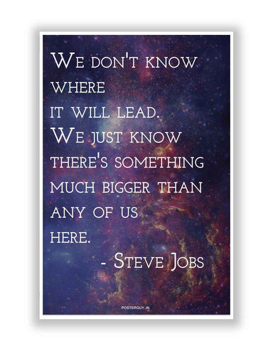 Buy Motivational Posters Online | Bigger Plan by Steve Jobs Inspirational Quote Poster | PosterGuy.in