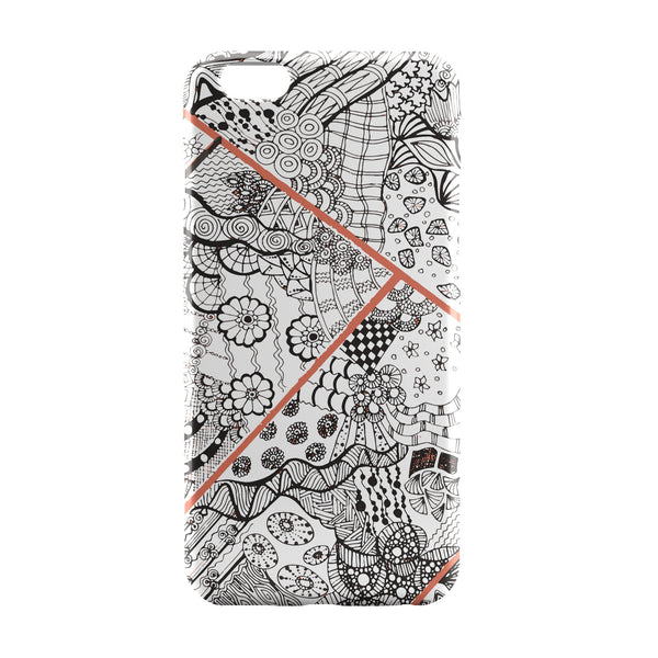 iPhone 6 Case & iPhone 6S Case | Abstract Line Art Doodle Black iPhone 6 | iPhone 6S Case by Stuti Online India | PosterGuy