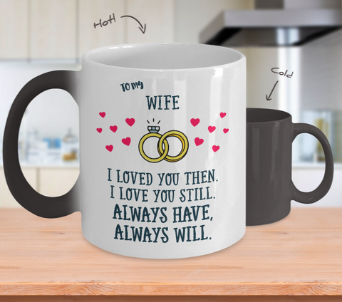 To My Wife - Color Changing Magic Coffee Mug