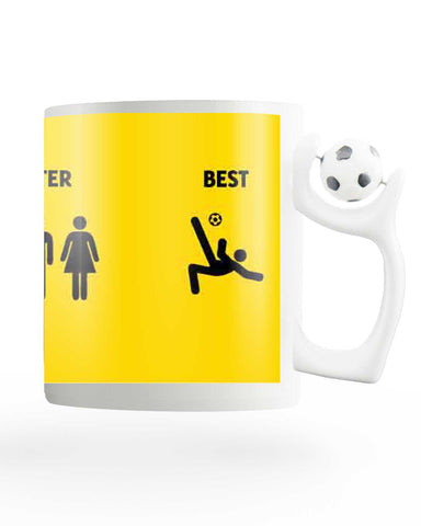 The Good, Better and Best Football Mug