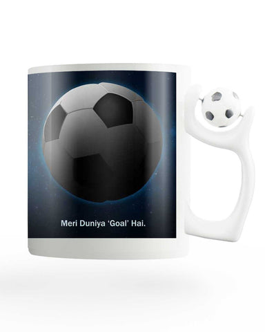 Meri Duniya Goal Hai Rotating Football Mug