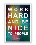 Buy Motivational Posters Online | Work Hard Quote Motivational Poster | PosterGuy.in