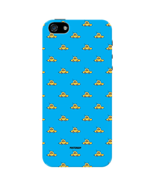 Yellow Car Pattern iPhone 5/5S Case