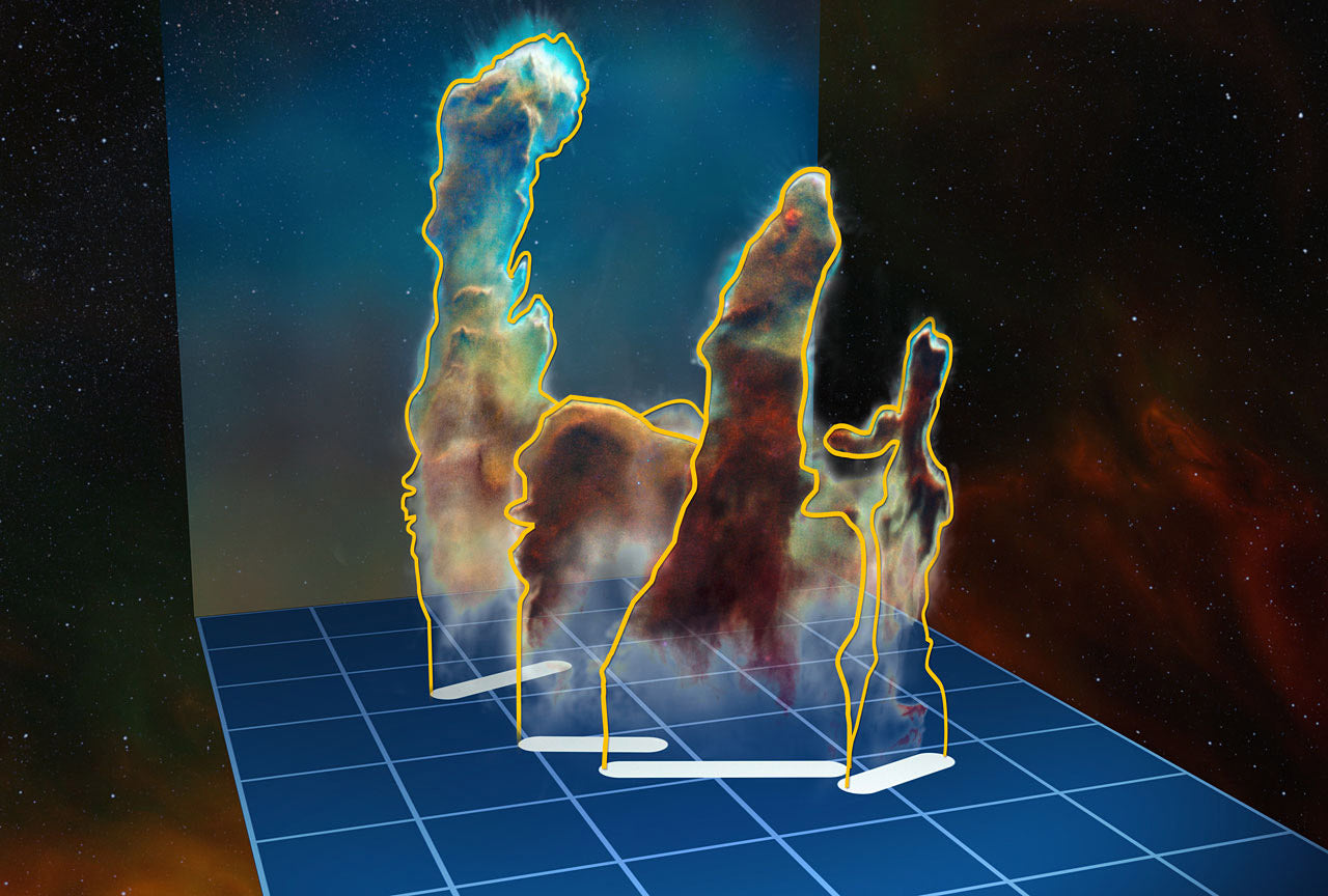 ESO's Very Large Telescope 3D mapping of The Pillars Of Creation using MUSE instrument
