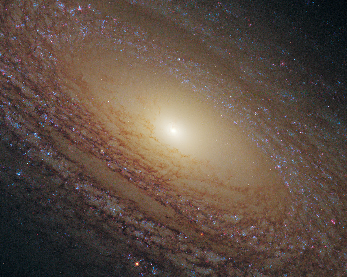 Spiral Galaxy NGC 2841, as photographed by the Hubble Telescope