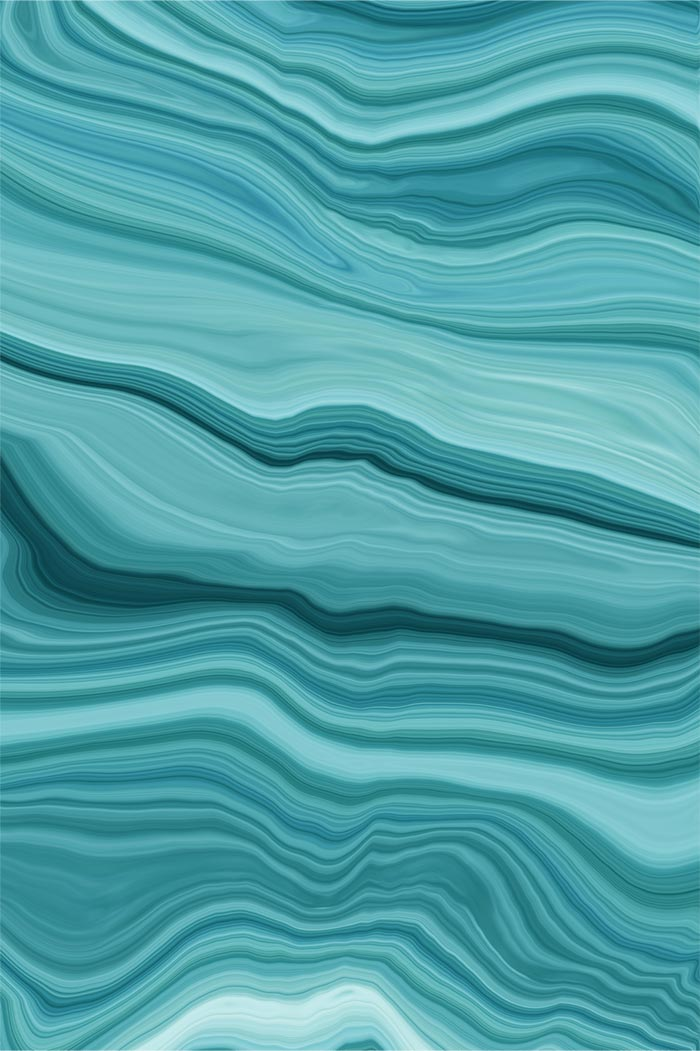 Abstract, wavy teal lines.