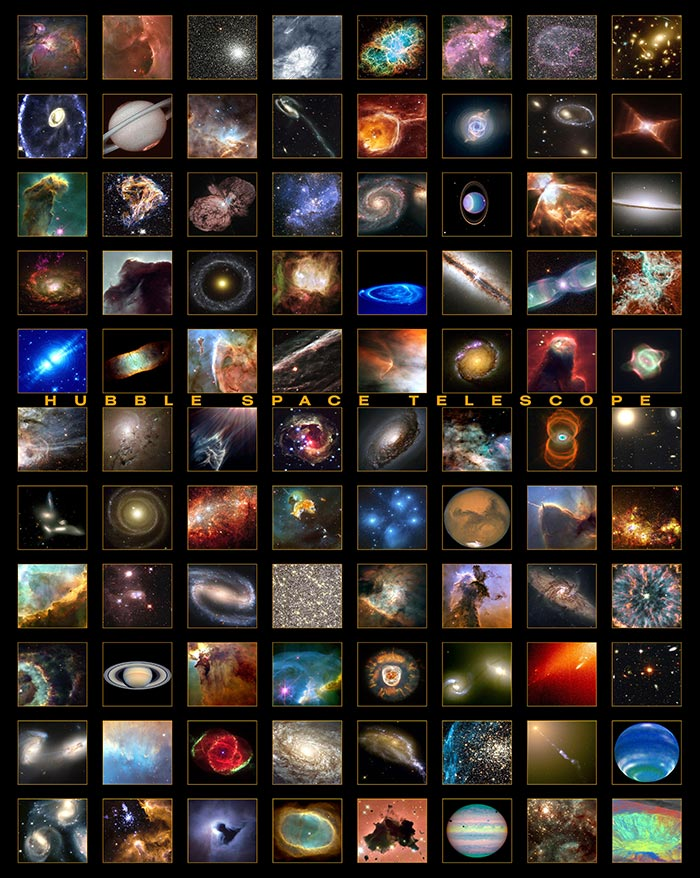 Best Hubble Space Telescope astronomy image collage.