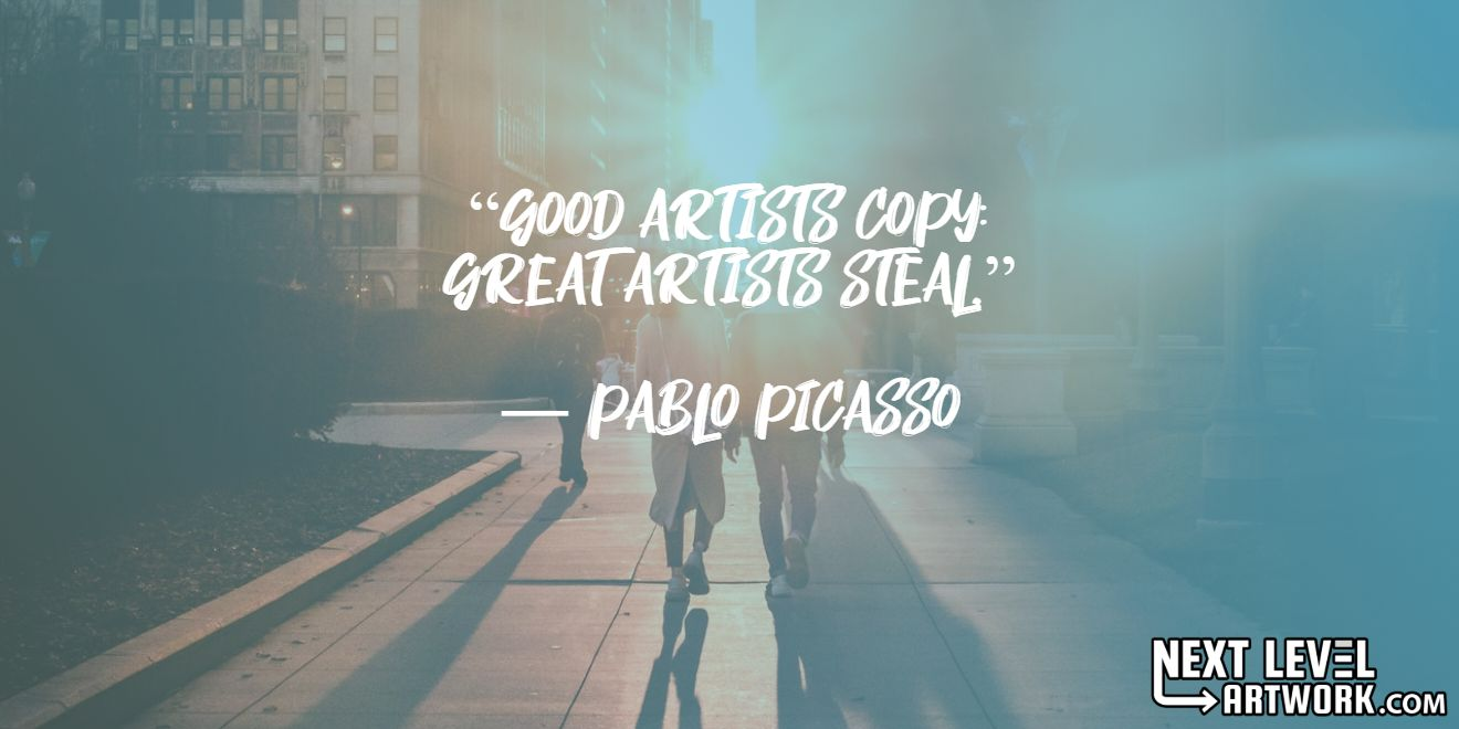 """Best Pablo Picasso success quote, #3: """"Good artists copy; great artists steal."""""""