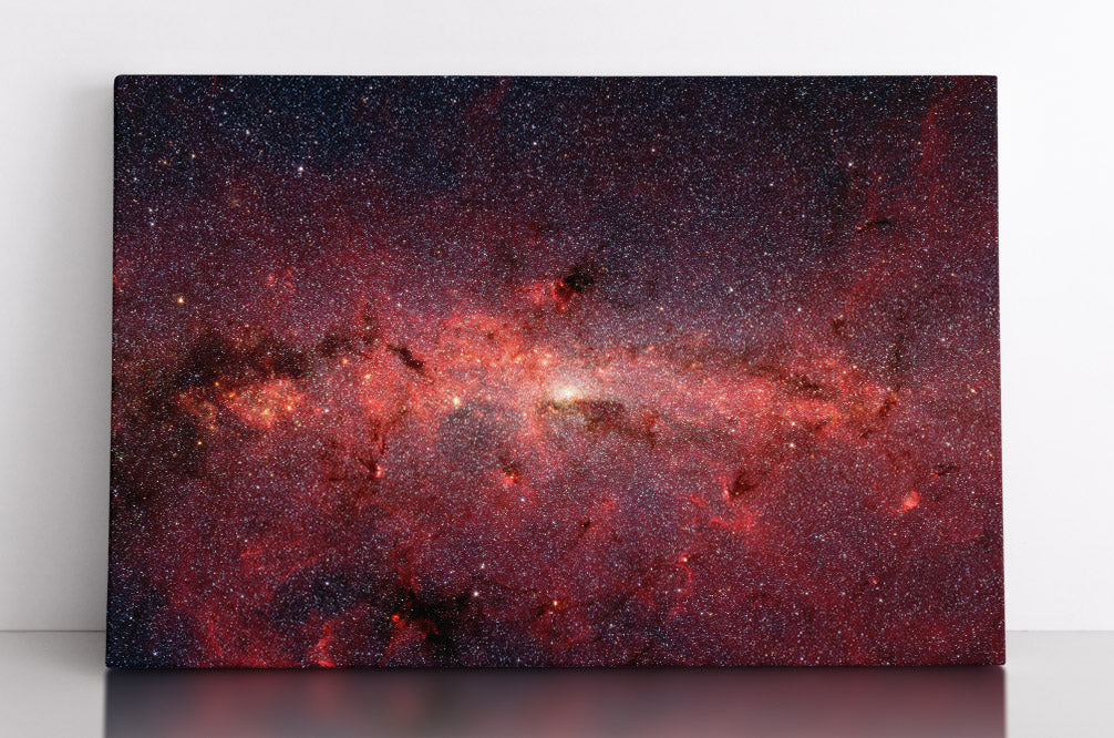 The center of the Milky Way Galaxy, Spitzer Space Telescope infrared image. Canvas wall art in romo.