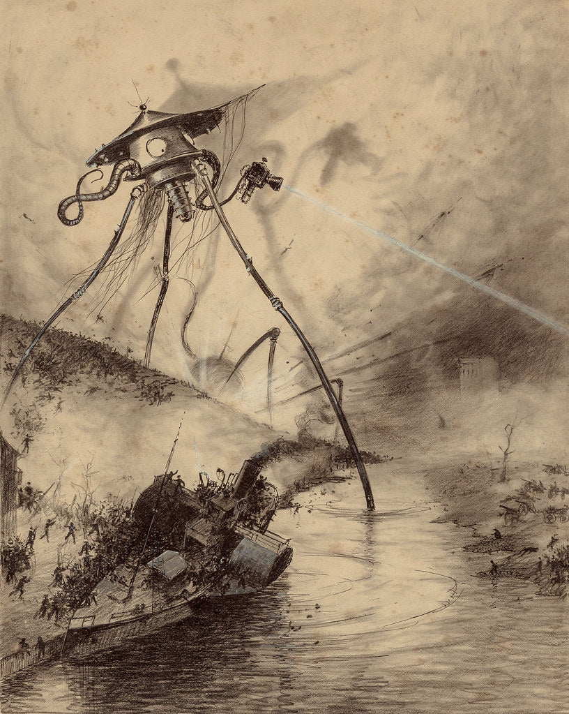 Fighting-Machine, giant killer robot from H.G. Wells' War of the Worlds