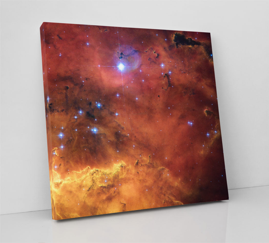 Nebula NGC 2467, Hubble Space Telescope image of gas clouds and stars. Canvas wall art in room.