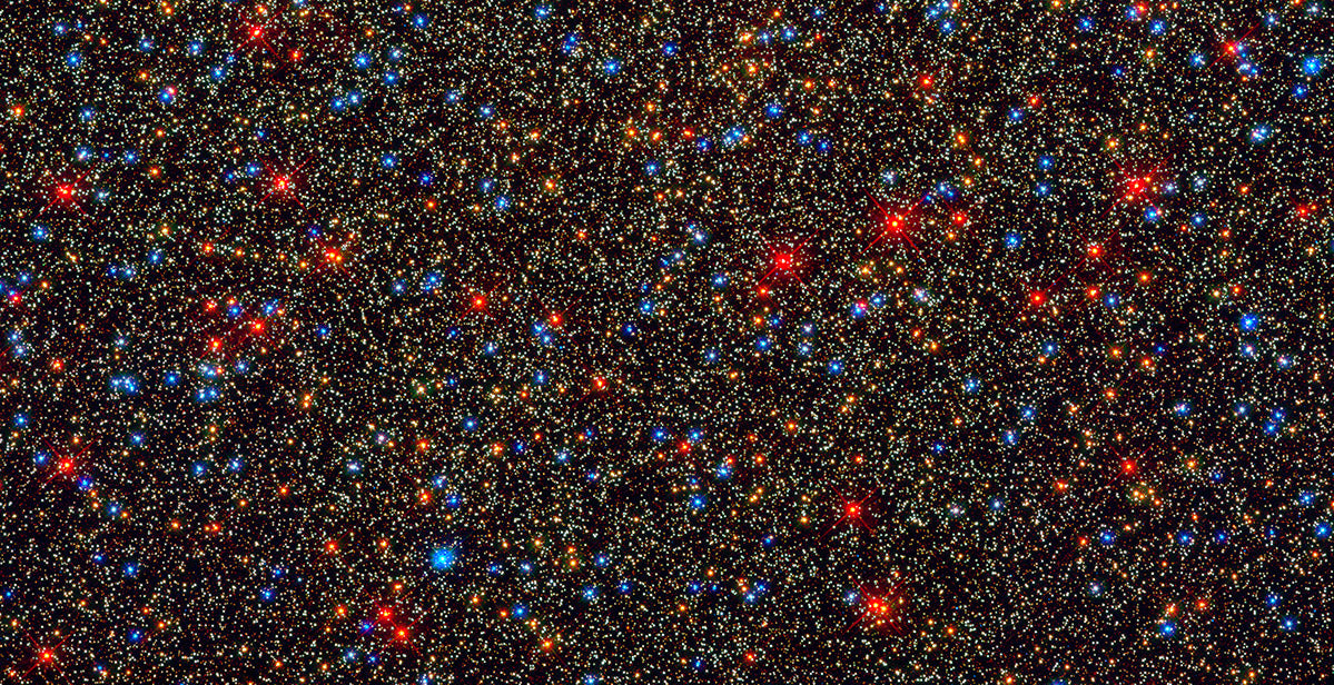 Omega Centauri Star Cluster, as photographed by The Hubble Space Telescope