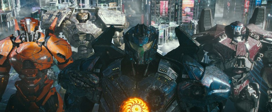 "Pacific Rim ""Jaegers,"" giant killer robots that protect us from monsters."