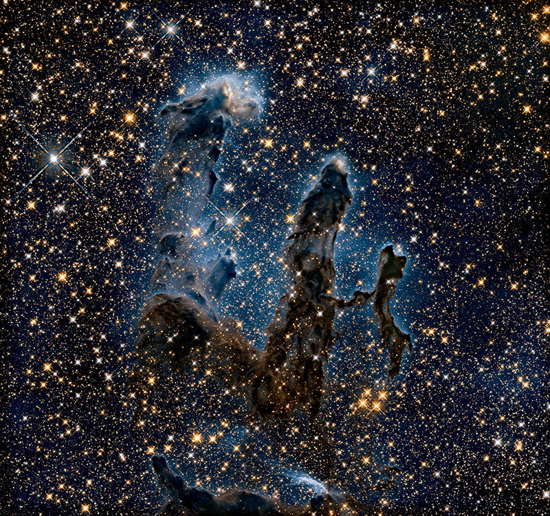 Pillars of Creation, infrared view, from Hubble Telescope.