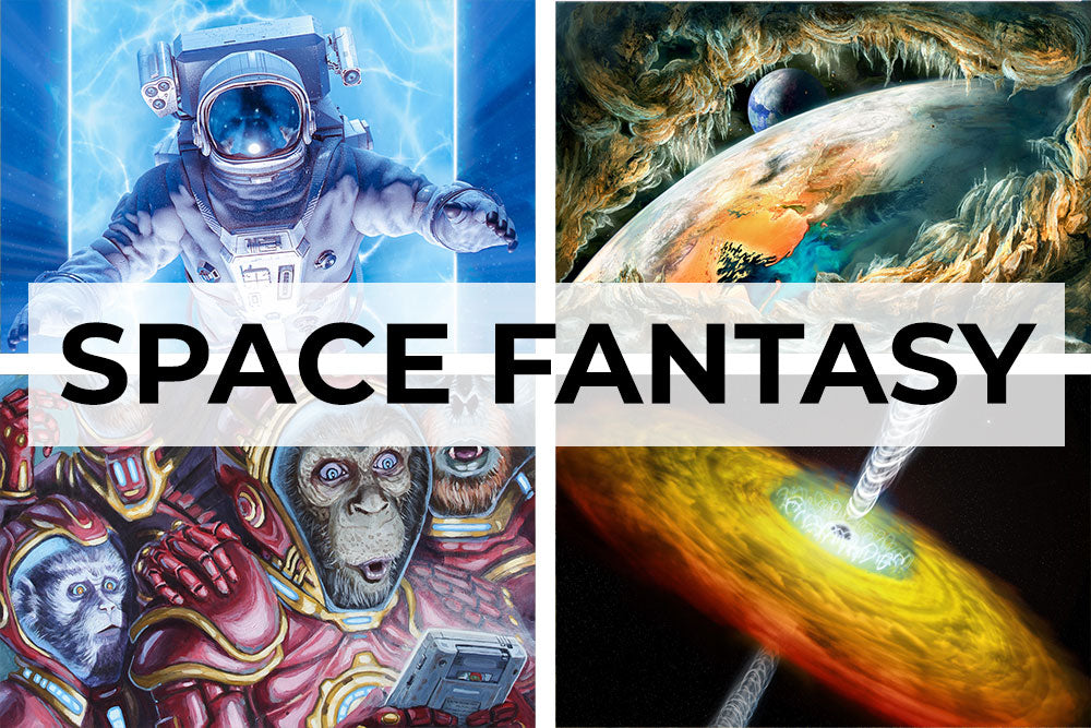 Space fantasy artwork collection. Canvas wall art category.