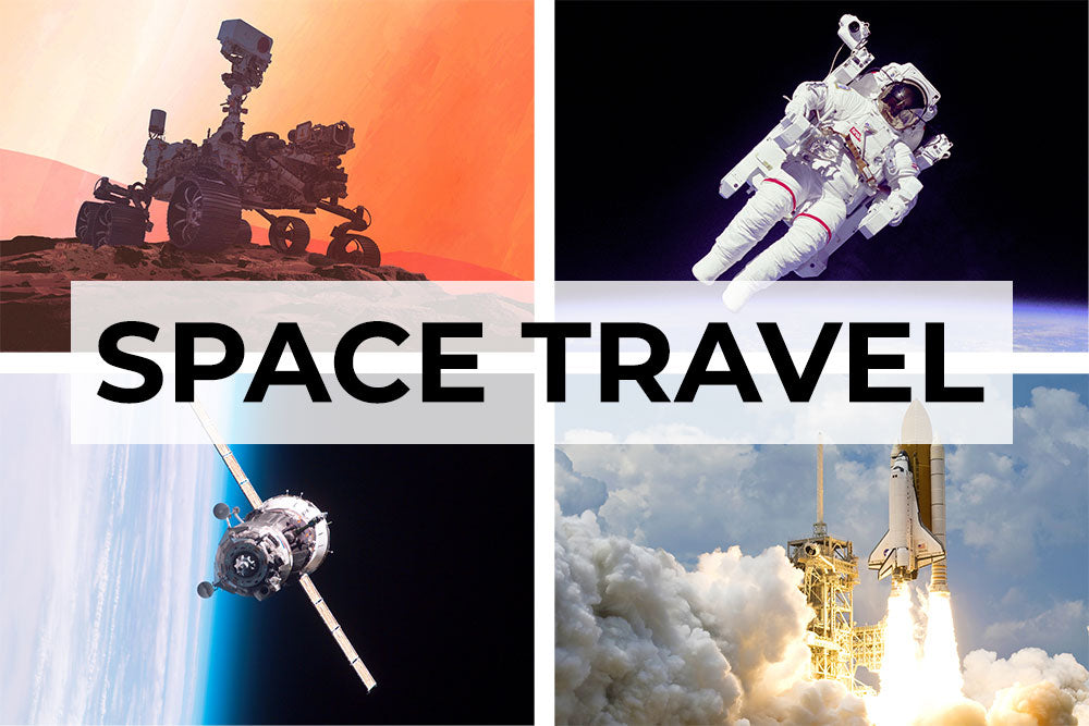 Space travel artwork collection. Canvas wall art category.
