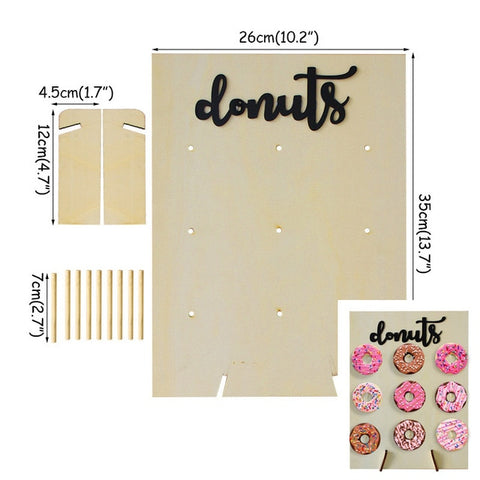 Donuts Wall Display Holder Party Decoration