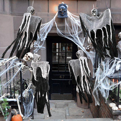 Hanging Halloween Ghost & Grim Reapers Haunted House Prop Decorations