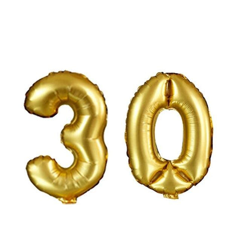 Big Birthday Gold Foil Balloons for 30th, 40th, 50th and 60th