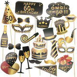 Big Birthday Photo Props for 30th, 40th, 50th and 60th Birthdays
